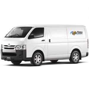 Van for hire at Zippy Rentals